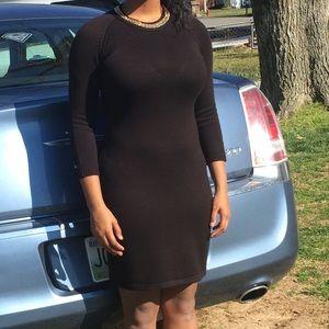 A black formal dress